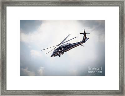 Us Custom And Border Patrol Helicopter Framed Print
