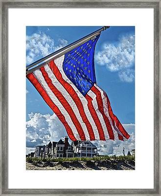 Us Flag,ocean Grove,nj Flag Framed Print