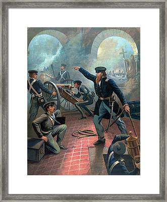 U.s. Grant At The Capture Of The City Of Mexico Framed Print by War Is Hell Store
