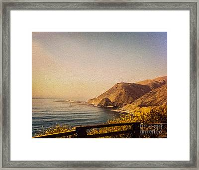 California Highway One Framed Print by Tom Gari Gallery-Three-Photography