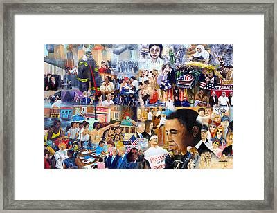 Us History The First Ten Years 21st Century Framed Print by Leonardo Ruggieri