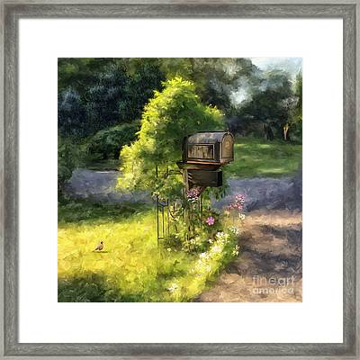 Walking The Dog Framed Print by Lois Bryan