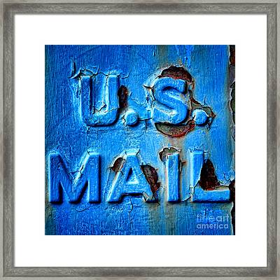 Us Mail Framed Print by Olivier Le Queinec
