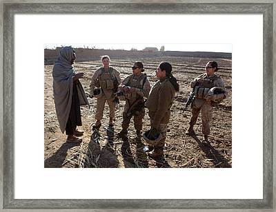 U.s. Marines In Afghanistan Assigned Framed Print by Everett