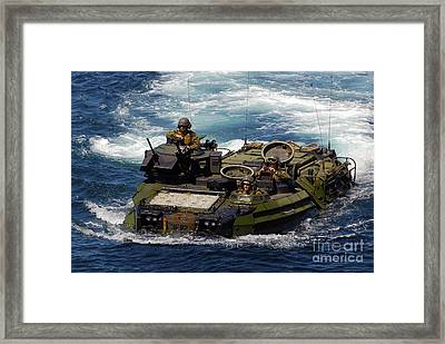 U.s. Marines Transit The Open Water Framed Print by Stocktrek Images