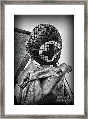 Us Medic In Black And White  Framed Print by Paul Ward