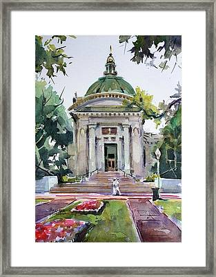 Us Naval Academy Chapel Framed Print