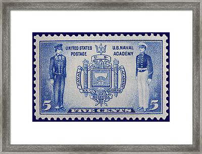 Us Naval Academy Postage Stamp Framed Print by James Hill