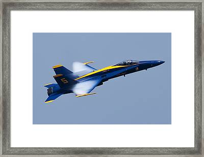 Us Navy Blue Angels High Speed Pass Framed Print