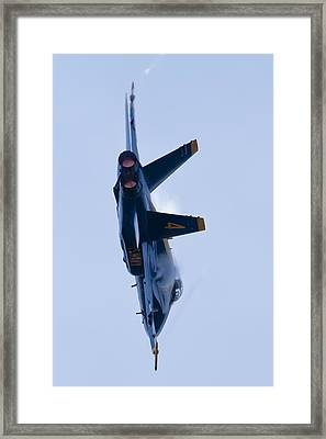 Us Navy Blue Angels High Speed Turn Framed Print