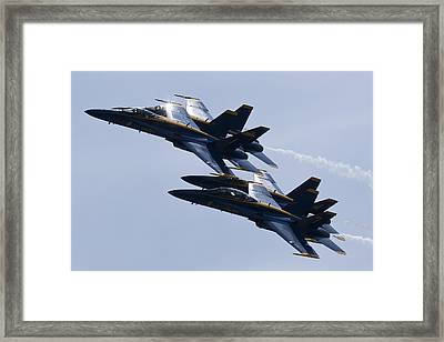 Us Navy Blue Angels In Formation Framed Print by Dustin K Ryan