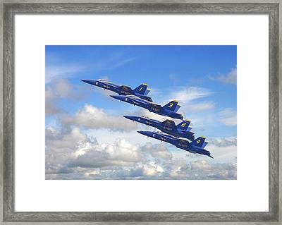 Us Navy - Blue Angels Framed Print by Pat Speirs