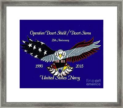 Us Navy Desert Storm Framed Print by Bill Richards