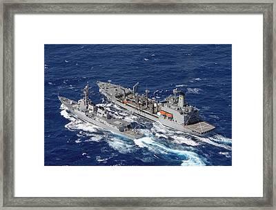 U.s. Navy Destroyer Uss Decatur Omes Framed Print