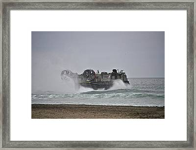 Us Navy Hovercraft Framed Print