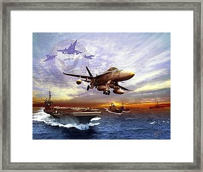 U.s. Navy Framed Print by Kurt Miller