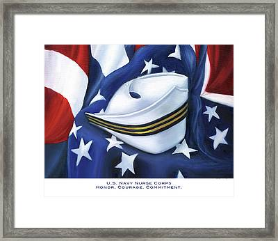 Framed Print featuring the painting U.s. Navy Nurse Corps by Marlyn Boyd