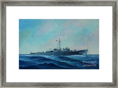 Us Navy Ship Pc577 Framed Print