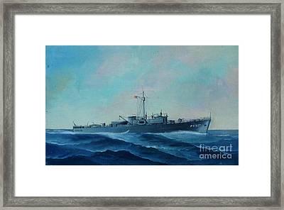 Us Navy Ship Pc577 Framed Print by John Black