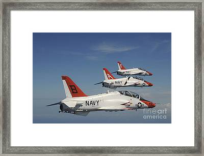 U.s. Navy T-45 Goshawk Training Framed Print by Stocktrek Images