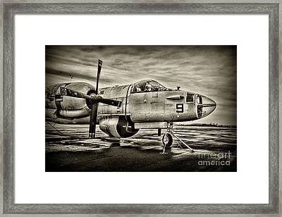 Us Navy Top Gun Aircraft In Black And White Framed Print