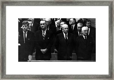 Us Presidents. From Left Us President Framed Print by Everett