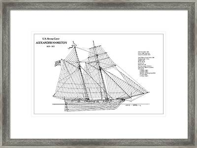 U.s. Revenue Cutter Alexander Hamilton Framed Print