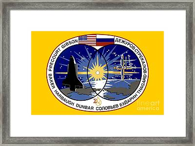 Us/russian Shuttle-mir Program Framed Print