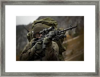 U.s. Special Forces Soldier Armed Framed Print by Tom Weber
