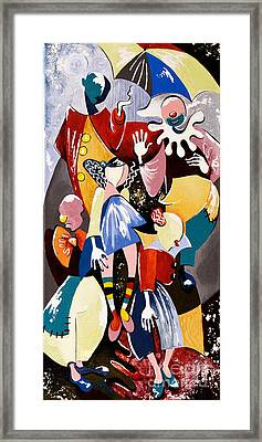 Us - The Manipulated Ones Framed Print by Elisabeta Hermann