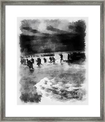 U.s. Troops Landing During An Exercise Near Algiers Framed Print by Esoterica Art Agency