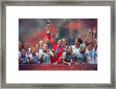 Us Women's Soccer Framed Print by Semih Yurdabak