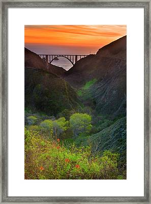 Usa, California, Big Sur, Bixby Bridge Framed Print by Don Smith