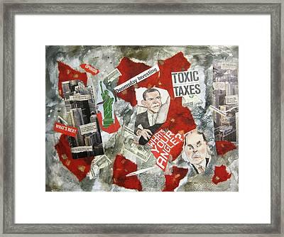 Usa Financial Meltdown Framed Print