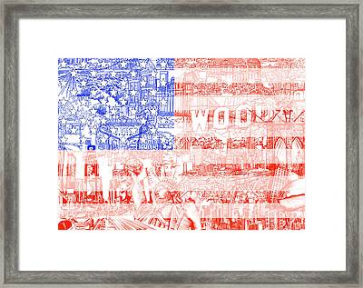 Usa Flag 1 Framed Print by Bekim Art