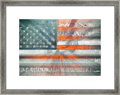 Usa Flag 10 Framed Print