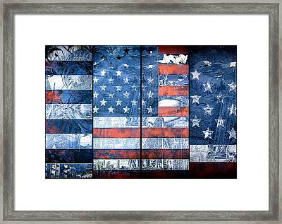 Usa Flag 11 Framed Print