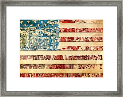 Usa Flag 2 Framed Print by Bekim Art