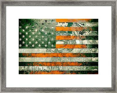 Usa Flag 5 Framed Print by Bekim Art