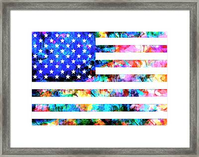 Usa Flag 6 Framed Print by Bekim Art