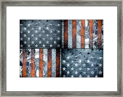 Usa Flag 7 Framed Print by Bekim Art
