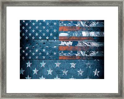 Usa Flag 8 Framed Print by Bekim Art