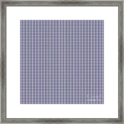Usa Flag Blue And White Gingham Checked Framed Print