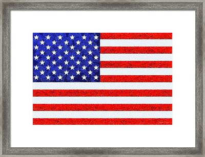 Usa Flag  - Camille Style -  - Pa Framed Print