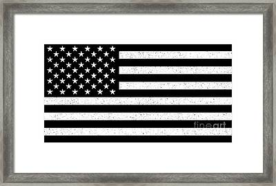 Framed Print featuring the digital art Usa Flag Hidef Super Grunge Patina by Bruce Stanfield