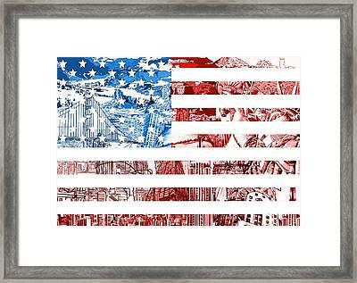 Usa Flag Framed Print by Bekim Art