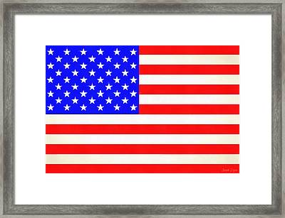 Usa Flag  - Vivid Free Style -  - Pa Framed Print by Leonardo Digenio