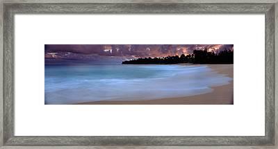Usa, Hawaii, Kauai, Haena Beach, Storm Framed Print