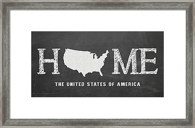 Usa Home Framed Print