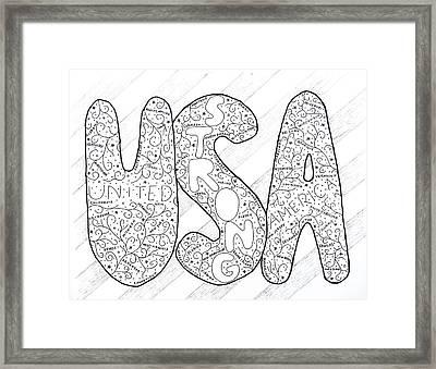 USA Framed Print